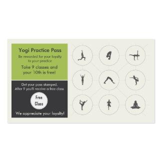 Yoga Class Business Card loyalty card