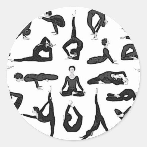 Yoga Classic Round Sticker