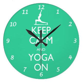 Yoga Clock - Keep Calm and Yoga On