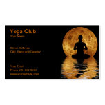 yoga club Double-Sided standard business cards (Pack of 100)