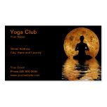 yoga club business cards
