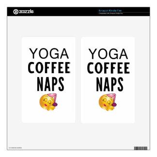 Yoga Coffee Naps Kindle Fire Skins