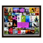 Yoga Collage Poster