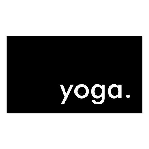 yoga. (color customizable) business card template