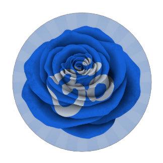 Yoga color de rosa azul OM Fichas De Póquer