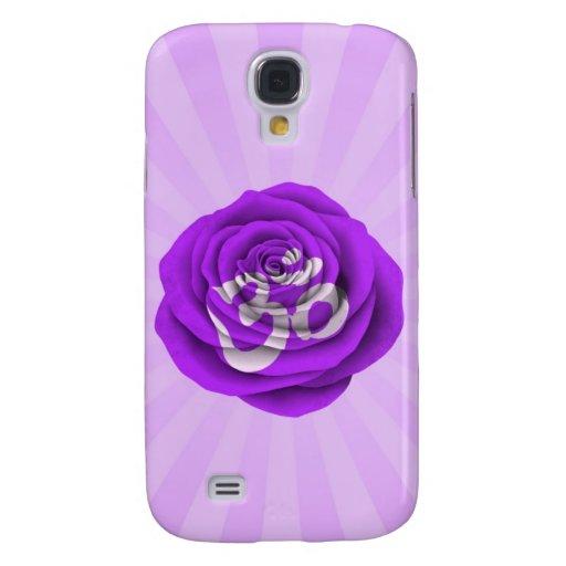 Yoga color de rosa púrpura OM