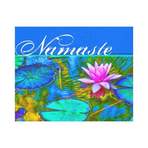Yoga colorida Practioner de Namaste o instructor Lona Estirada Galerias