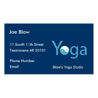 Yoga con Yin Yang en azul Tarjetas De Visita