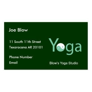 Yoga con Yin Yang en verde Tarjetas De Visita
