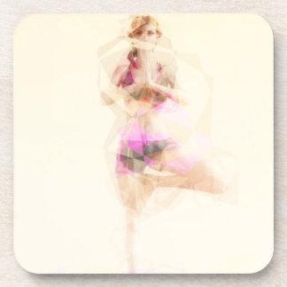 Yoga Concept Illustration Abstract as a Concept Drink Coaster