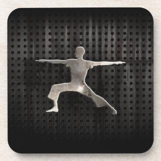 Yoga; Cool Black Drink Coaster