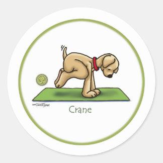 Yoga - Crane Round Stickers