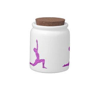 Yoga Crescent-Moon Mehndi Design Candy Jar