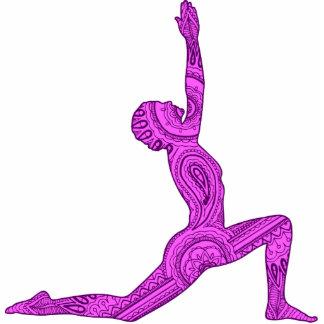 Yoga Crescent-Moon Mehndi Design Magnet Acrylic Cut Outs