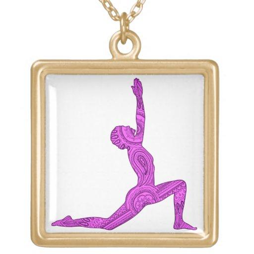 Yoga Crescent-Moon Mehndi Design Necklace