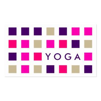 YOGA (cuadrados de la MOD) Tarjetas De Visita
