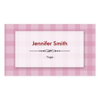 Yoga - cuadrados rosados bonitos tarjeta de negocio