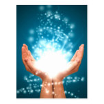 Yoga curativa verde del zen de la energía de Reiki Tarjeta Postal