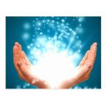 Yoga curativa verde del zen de la energía de Reiki Postal
