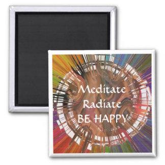 Yoga Darshan: Meditate, Radiate, Be Happy Magnet