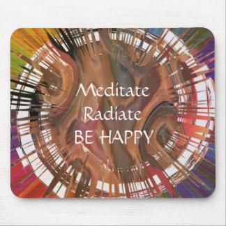 Yoga Darshan: Meditate, Radiate, Be Happy Mouse Pad