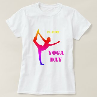 Yoga Day - 21 June - Celebrate with Exercise T-Shirt