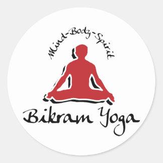 Yoga de Bikram Pegatina Redonda