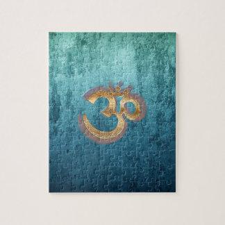Yoga de cobre amarillo azul Spiritualität de Asia Puzzle