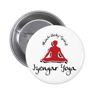 Yoga de Iyengar Pin Redondo 5 Cm