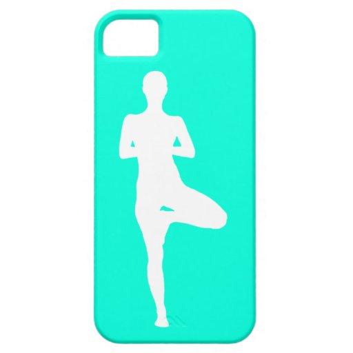 yoga de la casamata del iPhone 5 1 turquesa de la Funda Para iPhone SE/5/5s