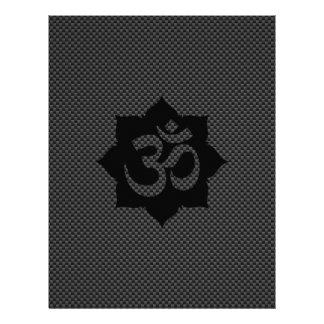 Yoga de la espiritualidad de Lotus del símbolo de Flyer A Todo Color
