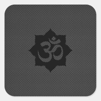 Yoga de la espiritualidad de Lotus del símbolo de Pegatina Cuadrada