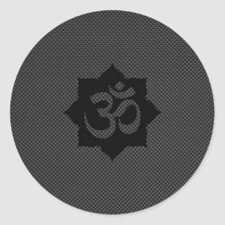 Yoga de la espiritualidad de Lotus del símbolo de Pegatina Redonda