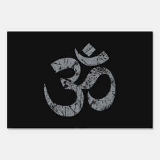 Yoga de la espiritualidad del símbolo de OM del Señal