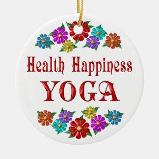Yoga de la felicidad de la salud ornamentos de reyes magos