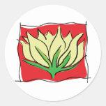 Yoga de la flor de Lotus Etiqueta