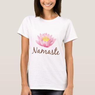 Yoga de la flor de Namaste Lotus Playera