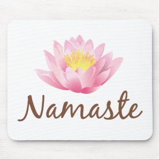 Yoga de la flor de Namaste Lotus Tapete De Ratón