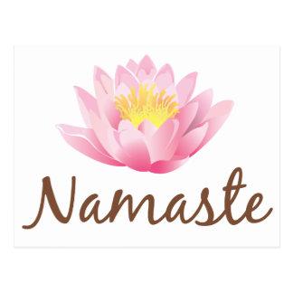 Yoga de la flor de Namaste Lotus Tarjeta Postal