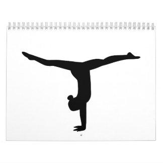 Yoga de la gimnasia calendarios