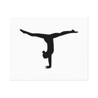 Yoga de la gimnasia impresión en lona