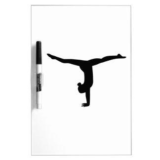 Yoga de la gimnasia pizarra