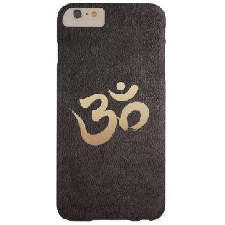 Yoga de la imitación de cuero del símbolo de OM Funda Barely There iPhone 6 Plus