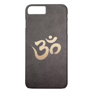 Yoga de la imitación de cuero del símbolo de OM Funda iPhone 7 Plus