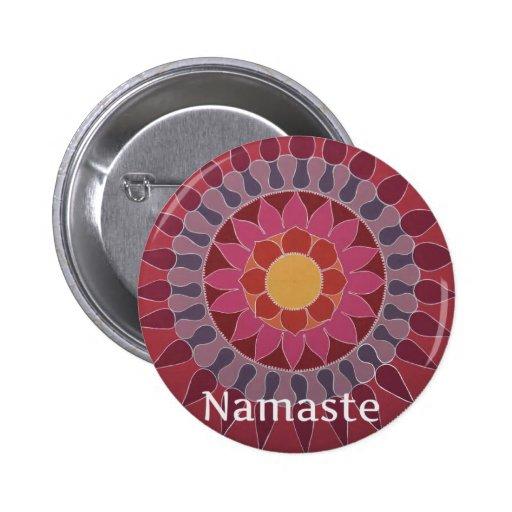 YOGA de la mandala de Namaste Lotus INSPIRADA Pin