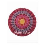 YOGA de la mandala de Namaste Lotus INSPIRADA Tarjeta Postal