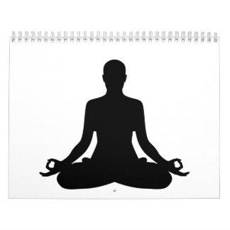 Yoga de la meditación calendarios