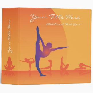 Yoga de la plantilla de la carpeta de anillo 3
