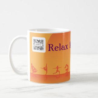 Yoga de la plantilla de la taza de café