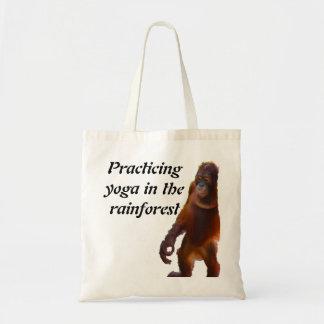 Yoga de la selva tropical bolsa lienzo